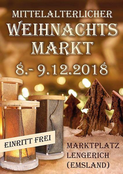 Mittelalterlicher Weihnachtsmarkt.Sg Lengerich Emsland Samtgemeinde Mittelalterlicher